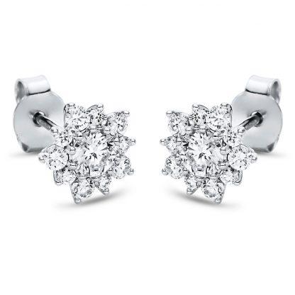 18 kt fehérarany steckeres 22 gyémánttal 2I977W8-3