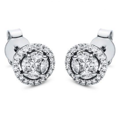 18 kt fehérarany steckeres 50 gyémánttal 2I972W8-3