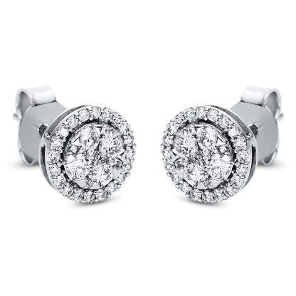 18 kt fehérarany steckeres 58 gyémánttal 2I987W8-3