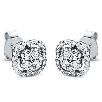 18 kt fehérarany steckeres 58 gyémánttal 2I991W8-1