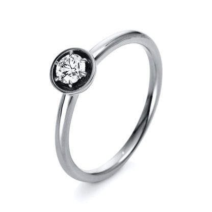 18 kt fehérarany szoliter 1 gyémánttal 1Q411W854-1