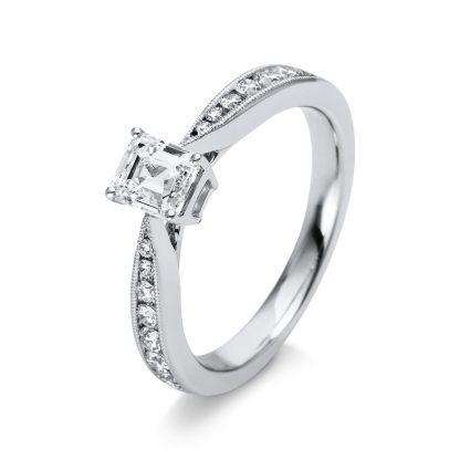 18 kt fehérarany szoliter oldalkövekkel 15 gyémánttal 1M268W854-2
