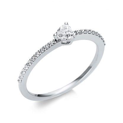 18 kt fehérarany szoliter oldalkövekkel 21 gyémánttal 1U612W854-8