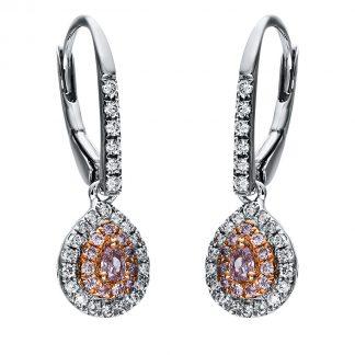 18 kt  fülbevaló 72 gyémánttal 2F978WR8-3