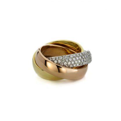 18 kt  multi stone with 180 diamonds 1A713T854-1