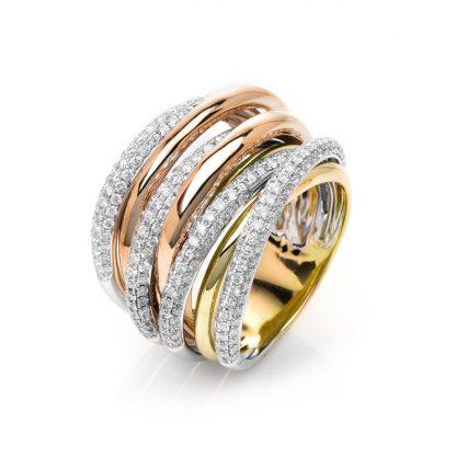 18 kt  multi stone with 259 diamonds 1D150T854-1