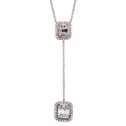 18 kt  nyaklánc 67 gyémánttal 4F470WR8-1