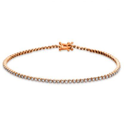 18 kt red gold bracelet with 89 diamonds 5B543R8-1