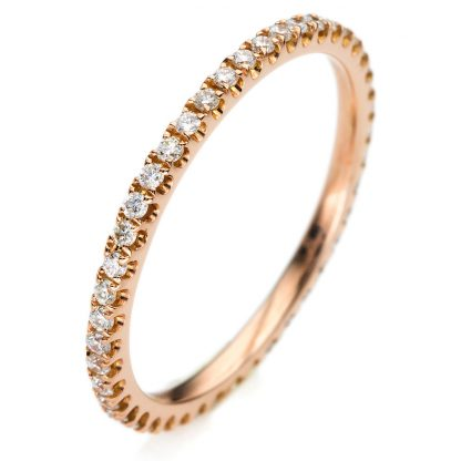 18 kt red gold eternity full with 24 diamonds 1A914R854-18