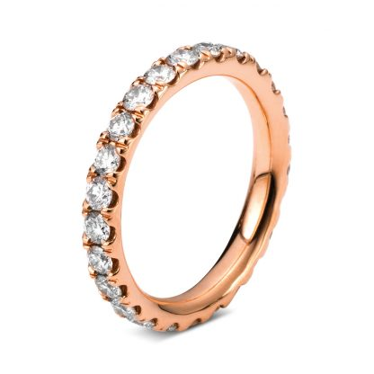 18 kt red gold eternity full with 25 diamonds 1C336R853-1