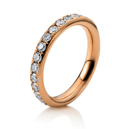 18 kt red gold eternity full with 26 diamonds 1B822R853-1