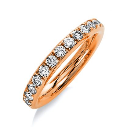18 kt red gold eternity full with 27 diamonds 1B823R853-1