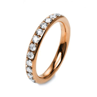 18 kt red gold eternity full with 27 diamonds 1C381R854-5