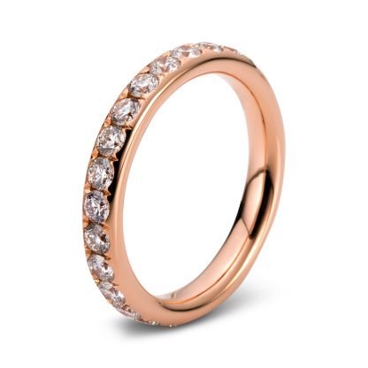 18 kt red gold eternity full with 30 diamonds 1C363R854-8