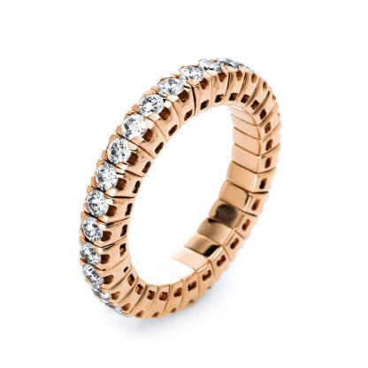 18 kt red gold eternity full with 30 diamonds 1J195R853-7