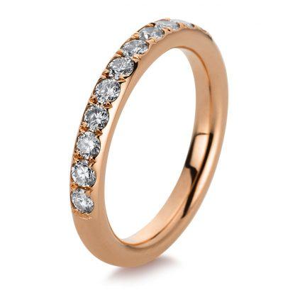 18 kt red gold eternity half with 13 diamonds 1B814R853-1