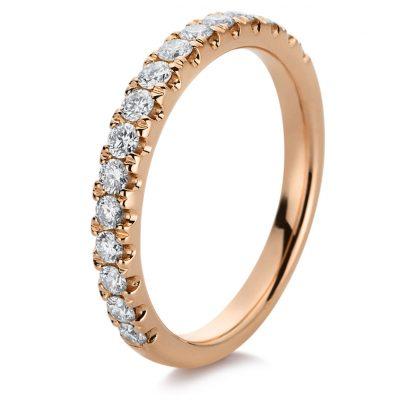 18 kt red gold eternity half with 16 diamonds 1B834R854-1