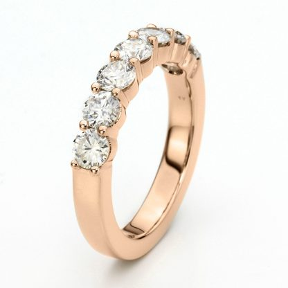 18 kt red gold eternity half with 7 diamonds 1F029R856-1