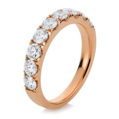 18 kt red gold eternity half with 9 diamonds 1B619R854-1