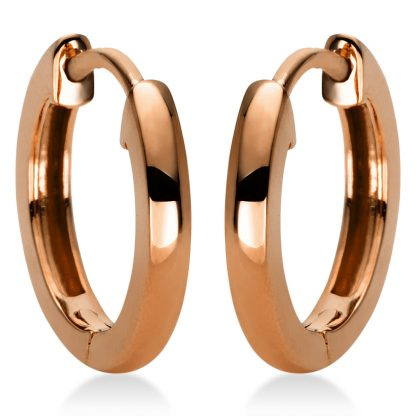 18 kt red gold hoops & huggies  2I983R8-1