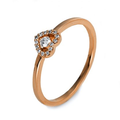 18 kt red gold illusion with 15 diamonds 1O509R855-7