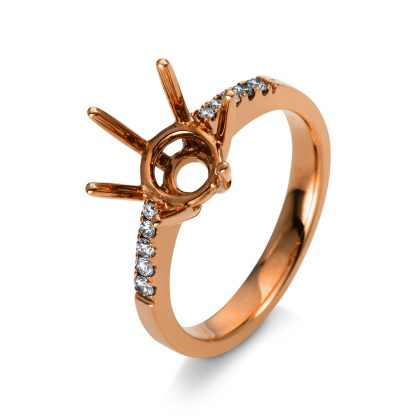 18 kt red gold mounting with 10 diamonds 1M979R853-3