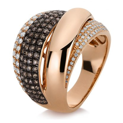 18 kt red gold multi stone with 203 diamonds 1C897R855-1