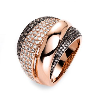 18 kt red gold multi stone with 203 diamonds 1I041R854-1