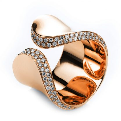 18 kt red gold multi stone with 84 diamonds 1G676R854-1