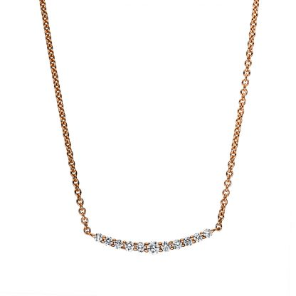 18 kt red gold necklace with 11 diamonds 4F036R8-1