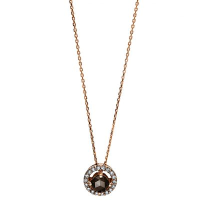 18 kt red gold necklace with 19 diamonds 4F120R8-1