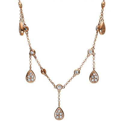 18 kt red gold necklace with 50 diamonds 4F556R8-1