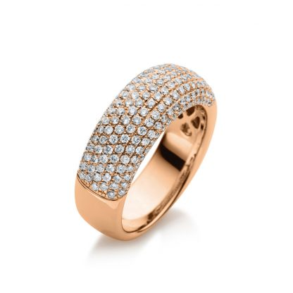 18 kt red gold pavé with 190 diamonds 1E391R854-1