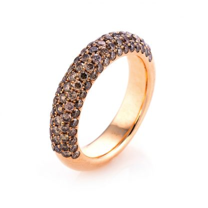 18 kt red gold pavé with 96 diamonds 1F666R854-5