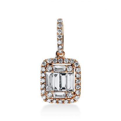 18 kt red gold pendant with 41 diamonds 3D821R8-1