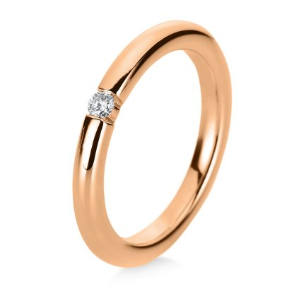 18 kt red gold solitaire with 1 diamond 1B934R853-1