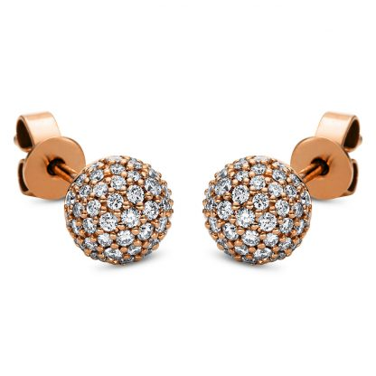 18 kt red gold studs with 110 diamonds 2J005R8-1