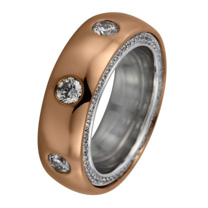 18 kt red gold / white gold multi stone with 123 diamonds 1A776RW856-1