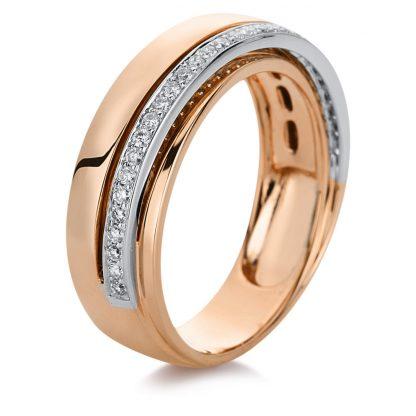 18 kt red gold / white gold multi stone with 31 diamonds 1B971RW8535-1