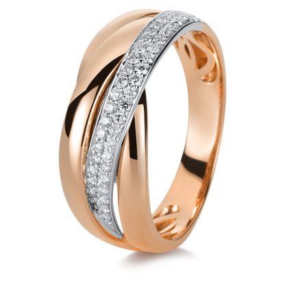18 kt red gold / white gold multi stone with 45 diamonds 1B999RW853-1