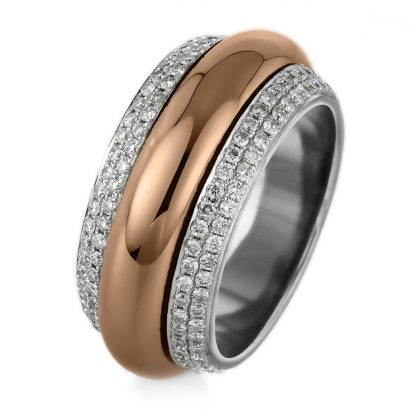 18 kt  rotatable ring with 204 diamonds 1A716WR856-3