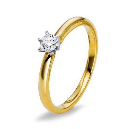18 kt sárga arany / fehérarany szoliter 1 gyémánttal 1Q402GW855-1