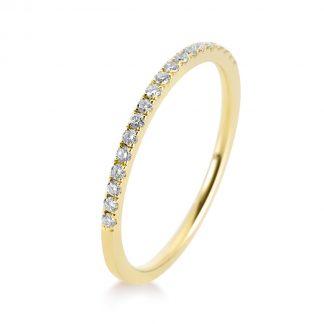 18 kt sárga arany félig köves eternity 19 gyémánttal 1B202G858-1