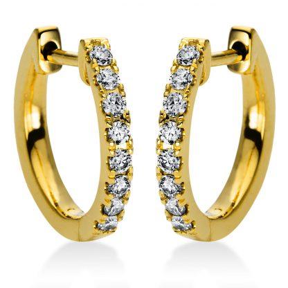 18 kt sárga arany karika és huggie 16 gyémánttal 2I986G8-1