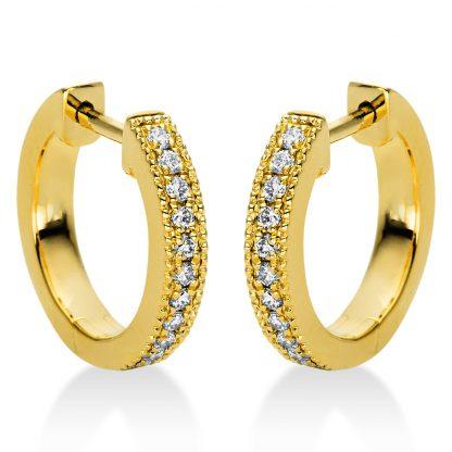 18 kt sárga arany karika és huggie 22 gyémánttal 2I984G8-2