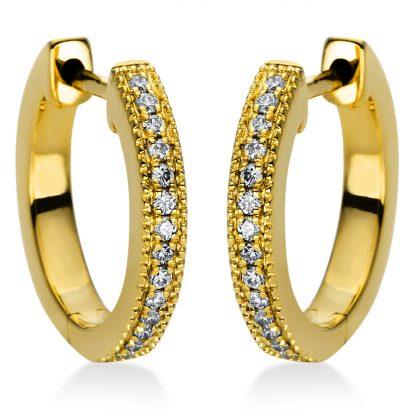 18 kt sárga arany karika és huggie 28 gyémánttal 2I985G8-1