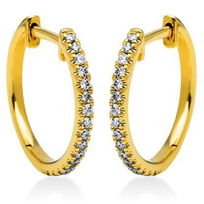 18 kt sárga arany karika és huggie 34 gyémánttal 2I833G8-1