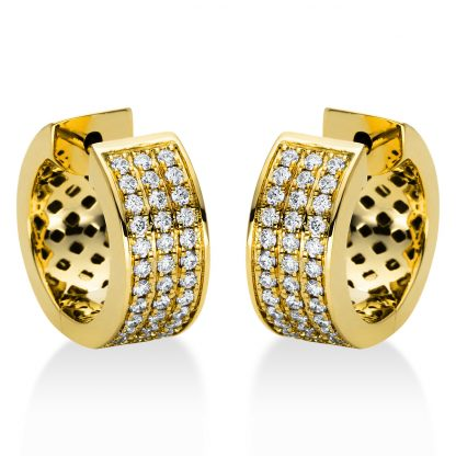18 kt sárga arany karika és huggie 72 gyémánttal 2I967G8-1