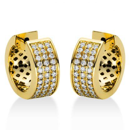 18 kt sárga arany karika és huggie 72 gyémánttal 2I967G8-2
