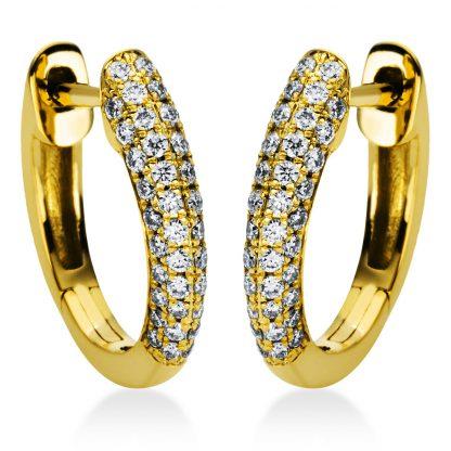 18 kt sárga arany karika és huggie 88 gyémánttal 2I981G8-1